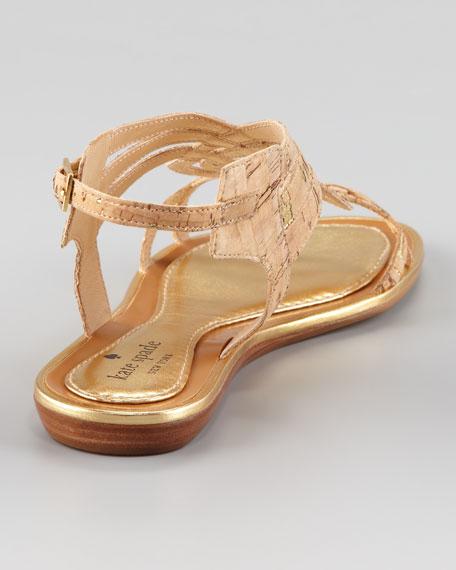 siren cork braided sandal
