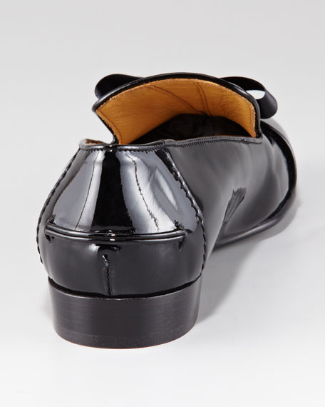 Patent Leather Slipper with Bow