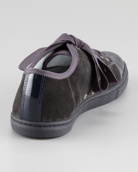 Cap-Toe Suede Sneaker