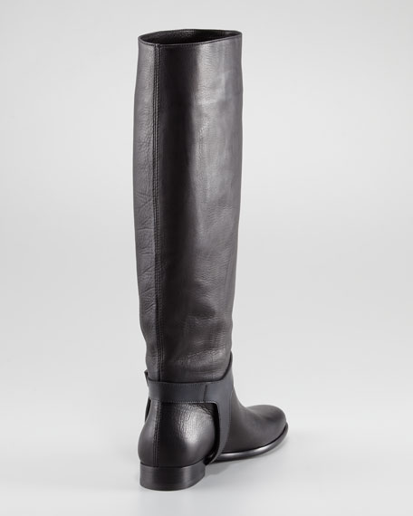 Lanvin Harness-Strap To-the-Knee Flat Boot