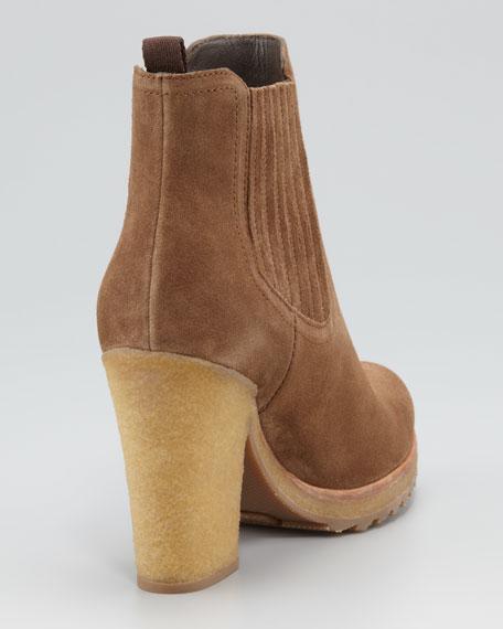 Suede Platform Ankle Bootie