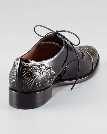 Patent Leather Lace Derby