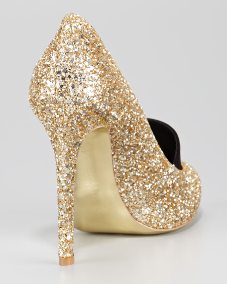 Glitter Loafer Pump