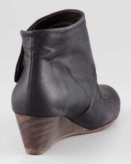 Kafka Leather Wedge Bootie