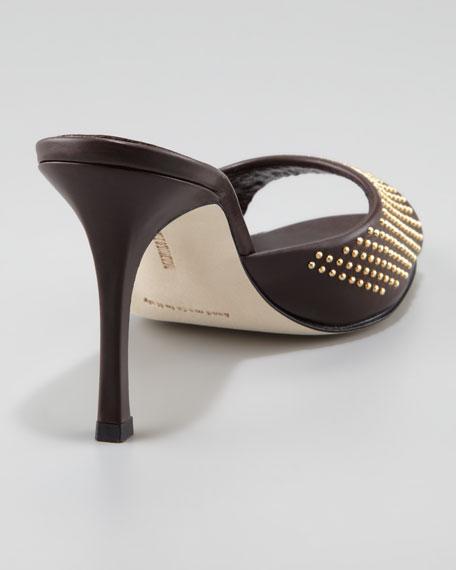 Astuta Studded Slide, Brown