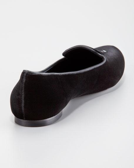 Skull Velvet Loafer