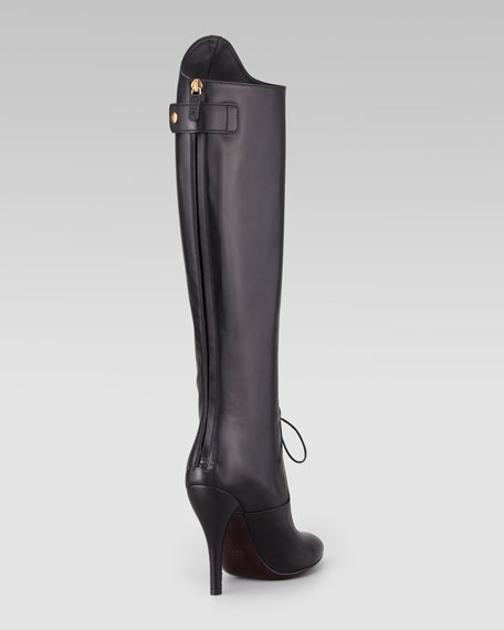Elizabeth Lace-Up To-the-Knee Boot