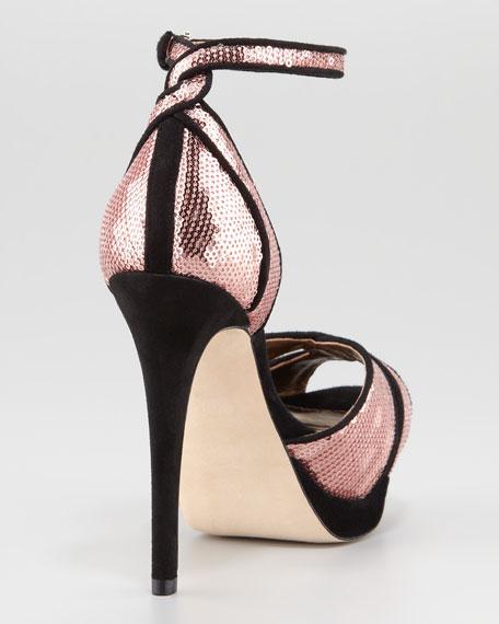 Paisley Sequin Platform Sandal