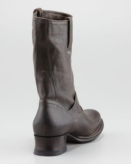 Martina Engineer Short Boot, Gray
