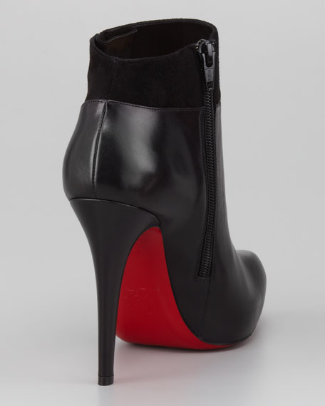 Leather/Suede Red Sole Ankle Boot