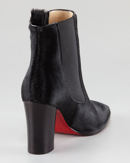 Verabotta Calf Hair Red Sole Bootie