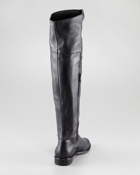 b9f2add3037 Robert Clergerie Jini Flat Leather Over-the-Knee Boot