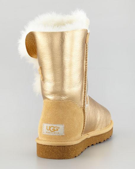 Bailey Button Short Boot, Gold