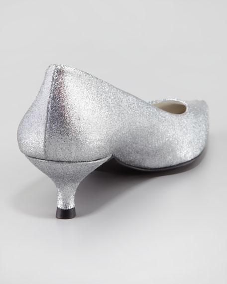 Poco Kitten-Heel Glitter Pump