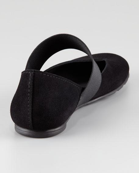 Gloria Suede Ballerina Flat, Black