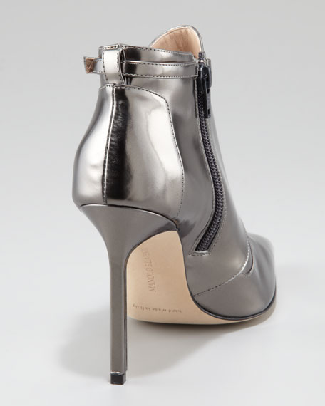 Istbofac Metallic Leather Ankle Boot