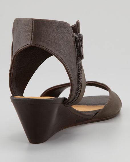 Kinu Wood Sandal, Charcoal