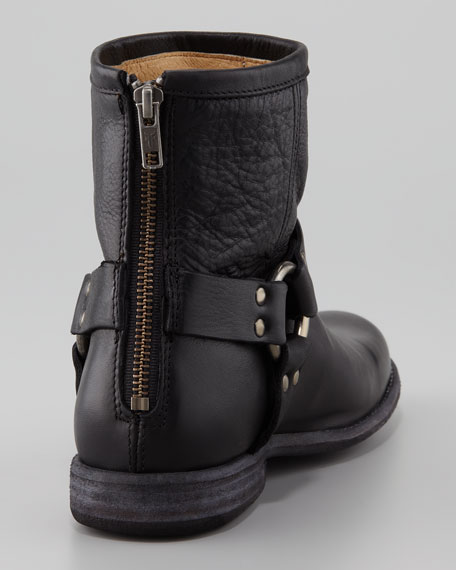 Phillip Harness Biker Boot, Black