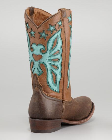 Jango Butterfly Cowboy Boot