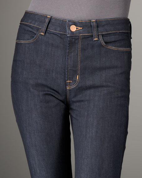 Bardot High-Rise Skinny Jeans, Ink