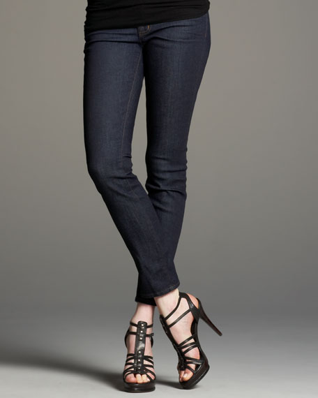 Mid-Rise Pure Skinny Jeans