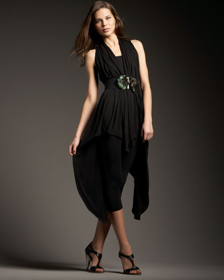 Black Wrap & Feather Belt