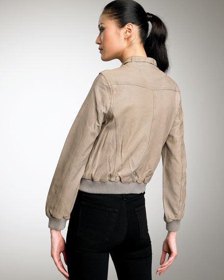 Danica Leather Motorcycle Jacket, Ashes
