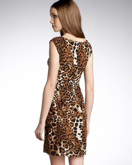 Into The Groove Leopard-Print Dress