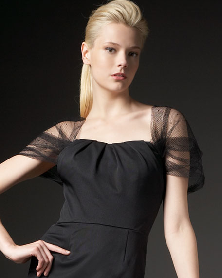 Tulle Capelet Dress