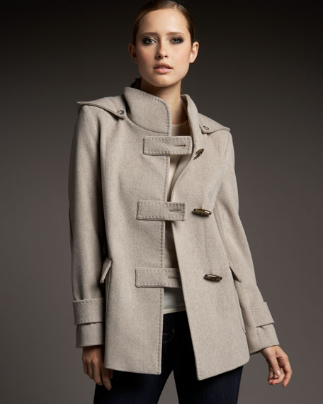 Toggle-Front Wool Coat
