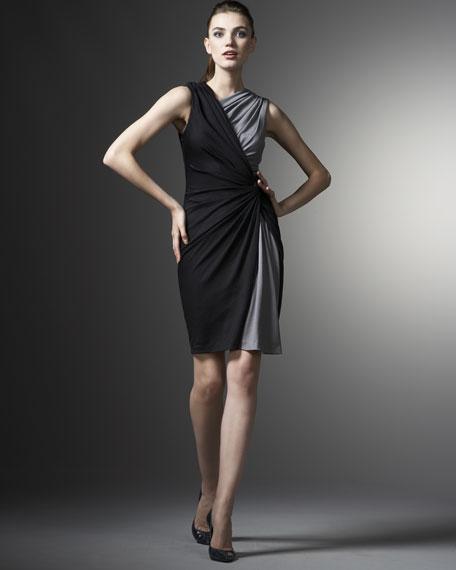 Two-Tone Asymmetric Dress