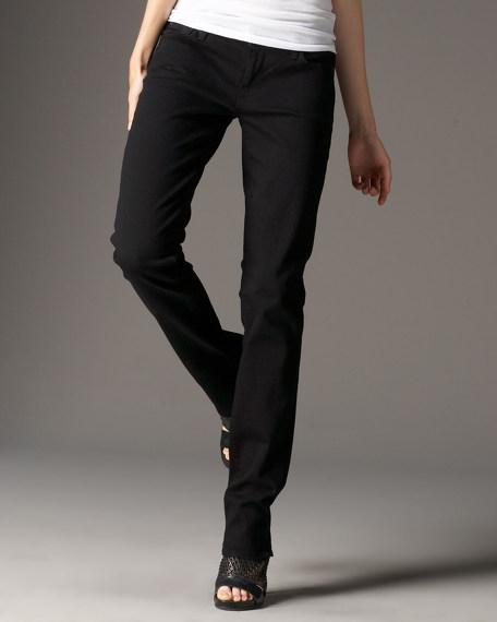 Straight Leg Black Black Jeans