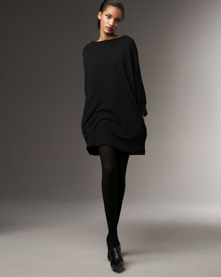 Fleece Dolman-Sleeve Dress