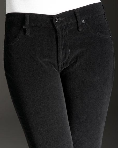 Twiggy Leggings, Black Corduroy
