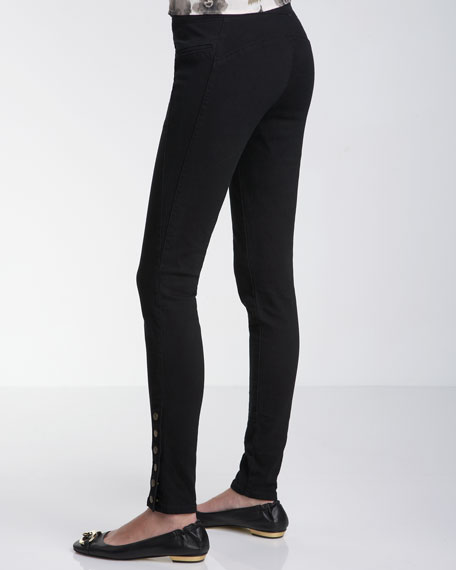 Tailored Snap-Ankle Leggings