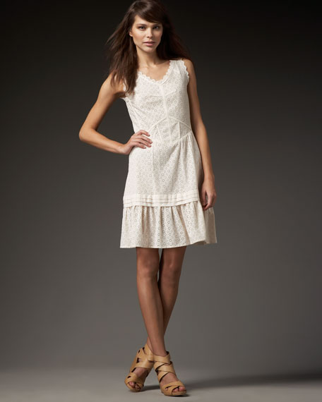 Effie Sleeveless Eyelet Dress