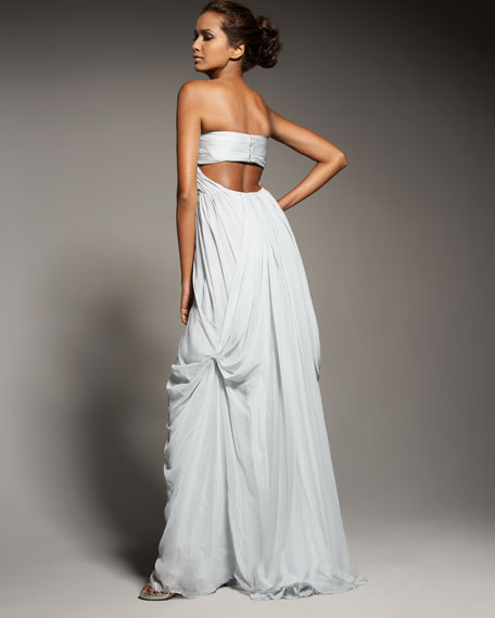Mousseline Soft-Draped Gown