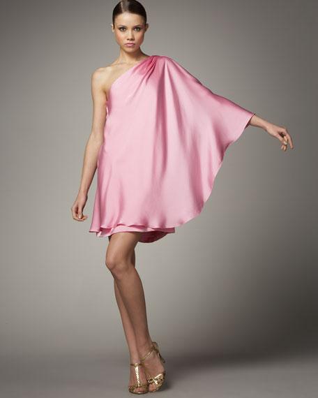 One-Shoulder Swing Dress