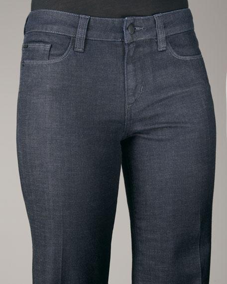 High-Waist Genevieve Denim Trousers