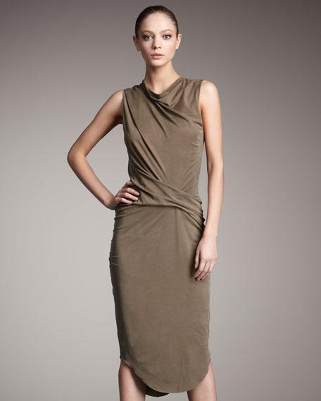 Torrent Cowl-Neck Dress
