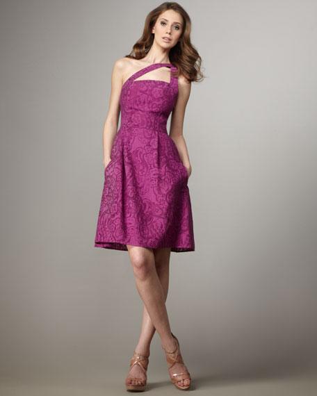 Marilyn One-Shoulder Cutout Dress