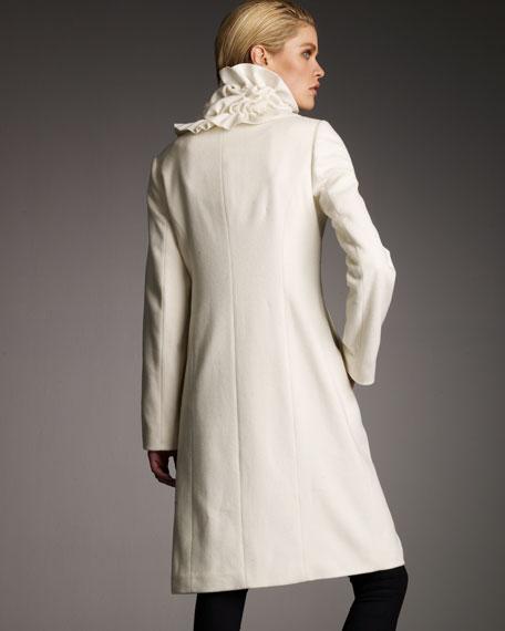 Ruffle-Neck Coat