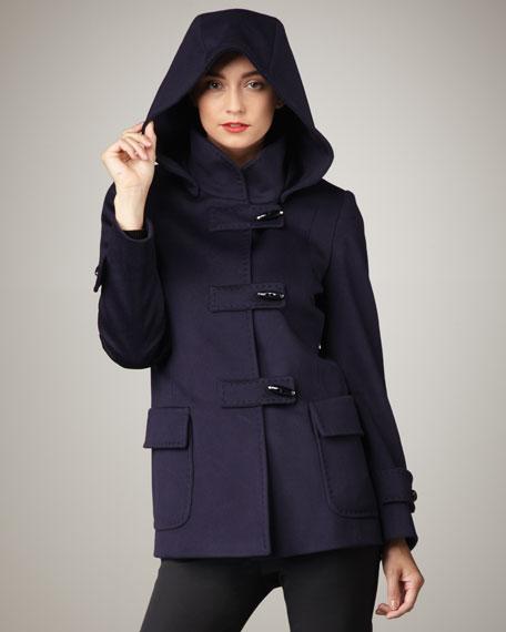 Short Hooded Toggle Coat