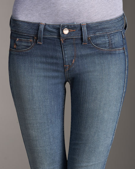 Spring Street Pull-On Skinny Jeans, Light Wash
