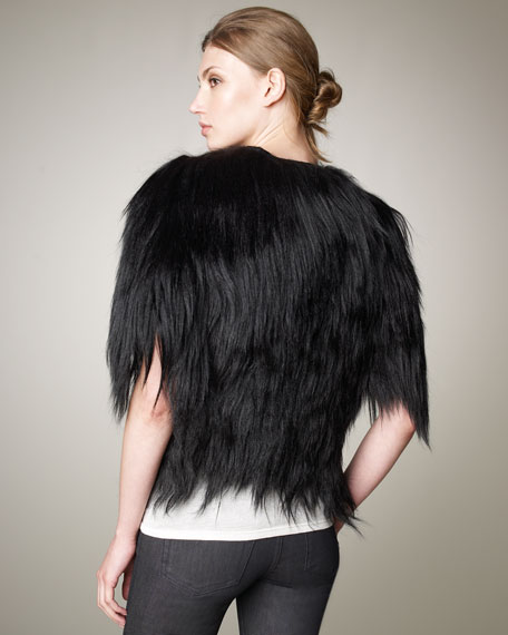 Gretta Cropped Fur Jacket