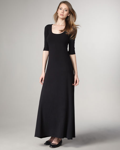 Scoop-Neck Maxi Dress