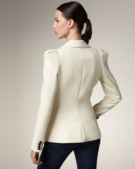 Puff-Shoulder Blazer