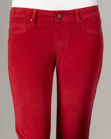 Slim Corduroy Pants, Ruby