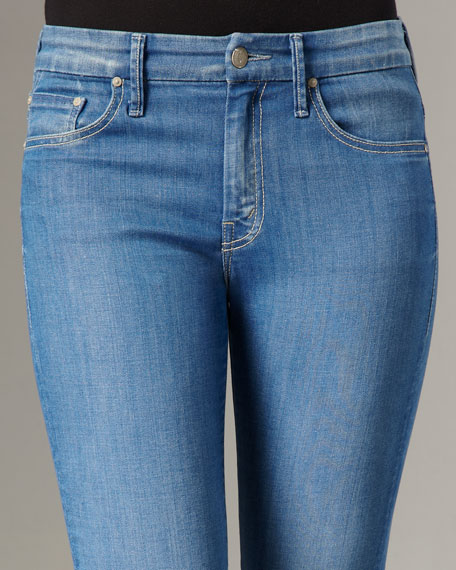 'The Looker' High- Waist Skinny, Light Blue