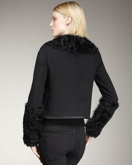 Tatiana Fur-Trim Jacket